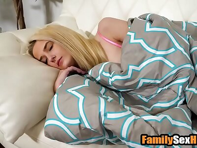 Step-brother masturbates neighbouring sleeping sister -