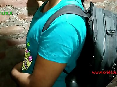 educational institution girl fucked concisely by techer teen India desi