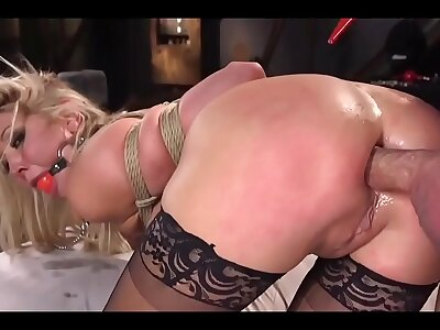 Flaxen-haired Sapphic Tied plus Anal Punished While Crying - by ASSHOLE PUNISHER