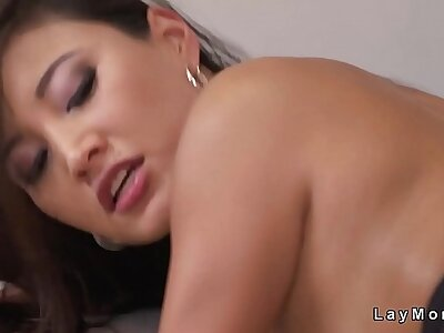 Beautiful unpractised tits Asian Milf bonking