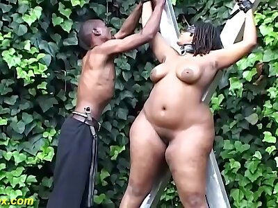 advanced bbw african alfresco bdsm lesson