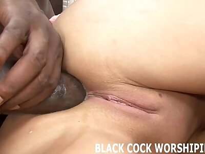 His big black cock is unreservedly downward just about carpet my pussy