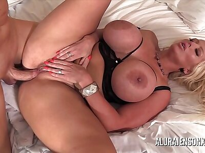 Heavy tit MILF Alura Jenson has will not hear of tight pussy impaled